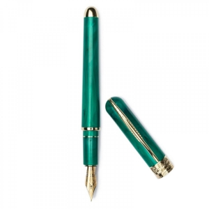 Pineider-Avatar-UR-Deluxe-14-karat-Gold-Nib-forest-green-Fountainpen